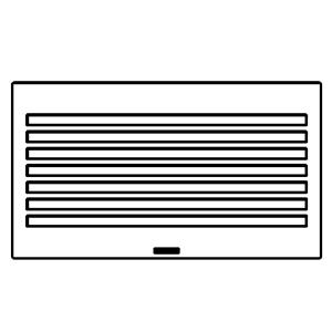 "TRUFIG HVAC GRILLE 8X4"" SLOTTED 50427"