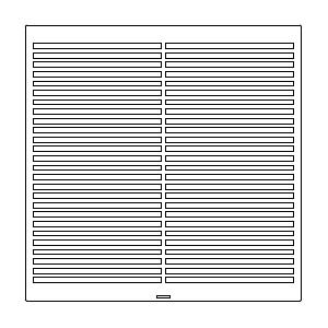 "TRUFIG HVAC GRILLE 13X13"" SLOTTED 50430"