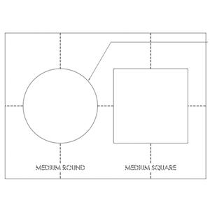 SONANCE AS MEDIUM ROUTER TEMPLATE R/S 93058