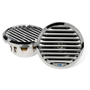 "AQUATIC AV 6.5"" MARINE COAXIAL SPEAKERS CHROME AQSPK654LC"
