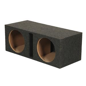 "QPOWER 2 10""HOLE-SQUARE W/VENTS MDF BOXED BASS10VENTED"