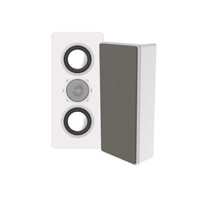 "ELAC MURO SERIES DUAL 4""(1 ACT 1 PAS) ON-WALL 2 WAY WHITE"